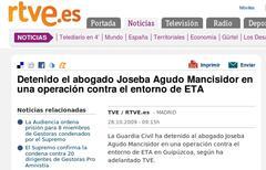 Joseba Agudo atxilotu dutela dio RTVEk