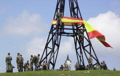 Bandera espainola Gorbeian