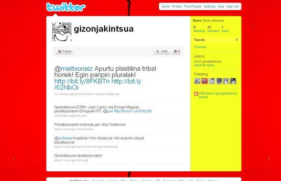 Gizon Jakintsua Twitterren