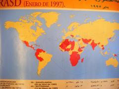 Mendebaldeko Sahara errekonozitzen dutenen mapa