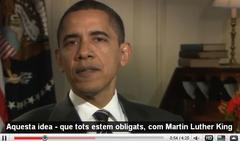Obamaren Youtube kanalean katalana