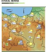 Euskalmeteko eguraldi mapa