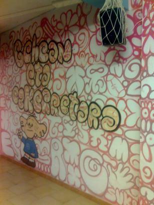 graffitia Ermuko Eskilarapeko ateneoan