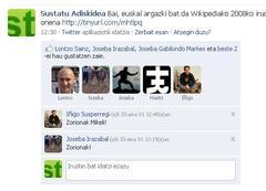 erreakzioak Sustaturi Facebooken