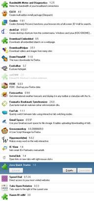 Firefox gehigarriak