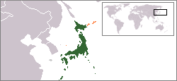 Japoniaren kokapena
