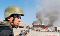 Les talibans s'étaient réfugiés dans un centre commercial. (photo afp)