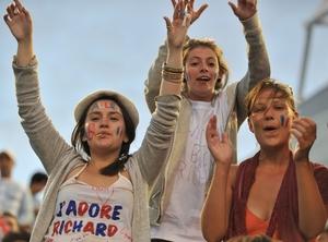 Des supporters du français Richard Gasquet (photo AFP)