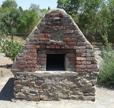 oven at sheep camp exhibit at Rancho San Rafael Park