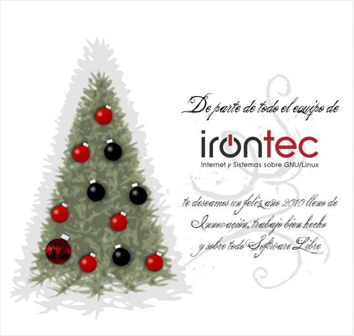 Imagen con la felicitación de Irontec para el 2010: Irontec te desea un feliz 2010