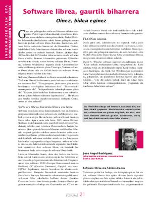 Software libreari buruz Administrazioa euskaraz aldizkarian