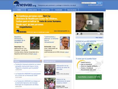 Nueva web de la Fundación Anesvad