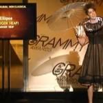 """Grammys: Imogen Heap Accepts Award Wearing """"Twitter Dress"""""""
