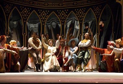 """Imagen de la ópera """"El rapto en el serrallo"""""""