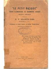 """Portada de la gramática de euskara """"Le Petit Basque"""", editada en Buenos Aires en 1913"""