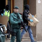 Imágenes de las detenciones de cuatro presuntos miembros de ETA en Bilbao.