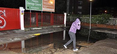 Una tormenta colapsa Badajoz