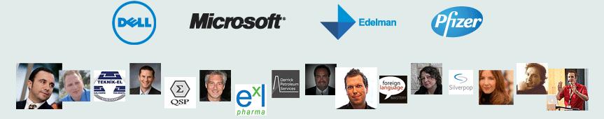 Dell, Microsoft, Edelman, Cisco, Pfizer