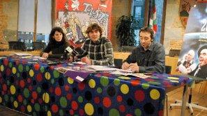 La concejala de Fiestas, Edurne Mendia, el alcalde, Ibai Iriarte, y el técnico de Fiestas, Jokin Monfort.