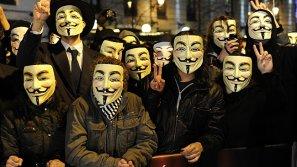 La red de activistas 'Anonymous'.
