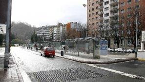 Ubicación actual de la estación de autobuses de Donostia, en Pío XII.