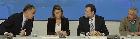Pons, Cospedal, Rajoy y Arenas, en una reunión preparatoria
