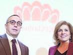 Alejandro Blanco y Ana Botella, tras presentar el cuestionario olímpico