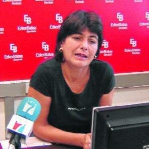 Raquel Modubar, en la sede de EB en Santurtzi.