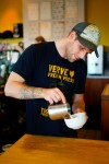 Jared Truby, 3rd place winner in the National Barista Championship, making coffee at The Verve coffee shop in Santa Cruz, California on Friday, November 9, 2012.