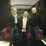 J. Fco. Zinkunegi, responsable de Euskara Munduan, Unai Sánchez, Lehendakari de la Euskal Etxea de Murcia e Iñaki Uribe, director general de HABE