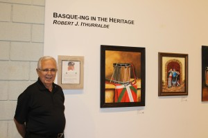 Bob Ithurralde exhibits his art at the Northeastern Nevada Museum