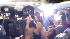 Rihanna arrives!