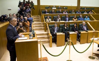 Íñigo Urkullu, durante su intervención en el Pleno.