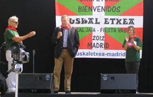Julián Celaya, en un momento de su intervención en la Euskal Jaia.