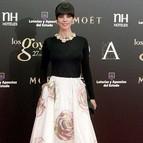 La actriz Maribel Verdú a su llegada a la gala de los Goya.