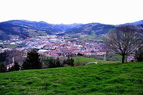 Azpeitia udalerriaren ikuspegi orokorra.