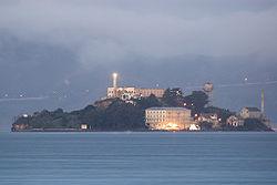 Alcatraz presondegiaren ikuspegi panoramikoa.