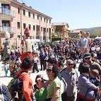 Cientos de personas se han congregado en Villatuerta para apoyar una vez más el euskera.