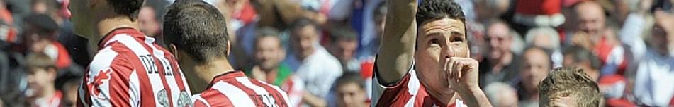 Aritz Aduriz dedica a su hija Yara el tanto que marcó el sábado al Mallorca.