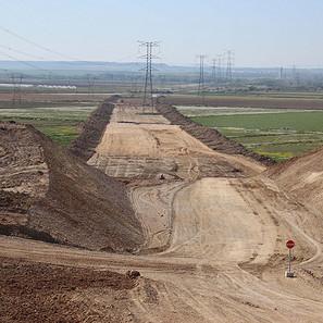 Obras del tramo Castejón - Cadreita del Tren de ALta Velocidad.