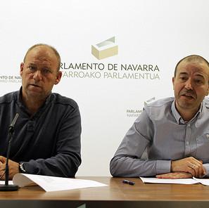 Los parlamentarios de Aralar Juan Carlos Longás y Txentxo Jiménez.