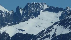 El pico Frondiellas, donde pereció el sangüesino.