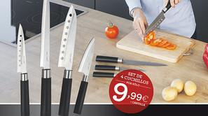 Promoción cuchillos japonenes Santoku.