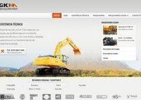 Diseño responsive página web de GKM - Mantenimiento de maquinaria pesada