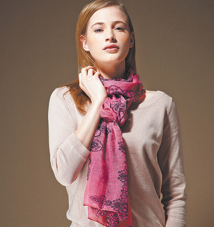Fular Glamorous Pink