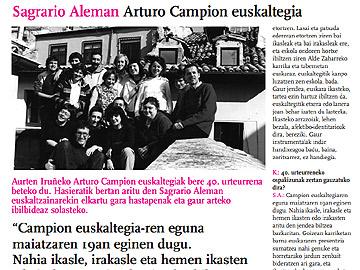 Arturo Campion euskaltegiaren 40. urteurrena
