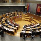Vista del hemiciclo del Parlamento de Navarra.