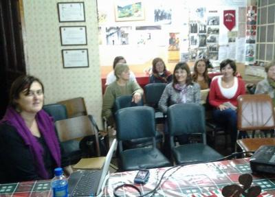 Marian Fernandez Castelli gave a Basque Culture Workshop at the Gure Txokoa Basque club in Azul