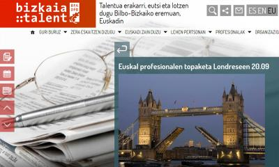 The website of Bizkaia:talent
