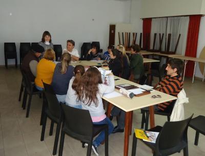 First Basque class at the Gure Etxe Maitea in Olavarria